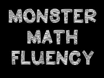 Monster Math Multiplication Fact Fluency