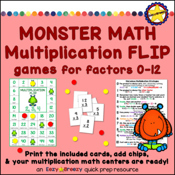 Monster Math Multiplication Flip Games