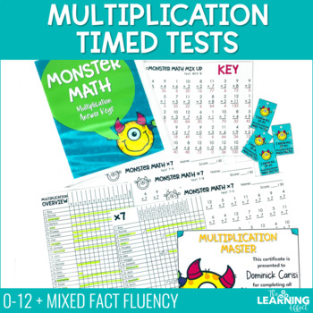 Fact Fluency Multiplication Timed Tests