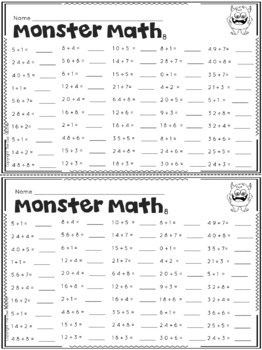 Multiplication Facts   Fact Fluency Worksheets   Practice ...