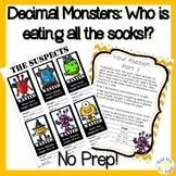 Monster Math Mystery: 5th & 6th grade Add/Subtract Decimals Challenge!!