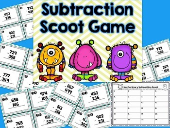 Monster Math: Not-So-Scary Subtraction! {3-Digit Subtraction With Regrouping}
