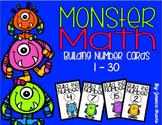 Monster Math {Number Building Cards 1-30}