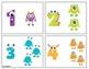 Monster Math Number Cards