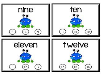 Monster Math: Number Words