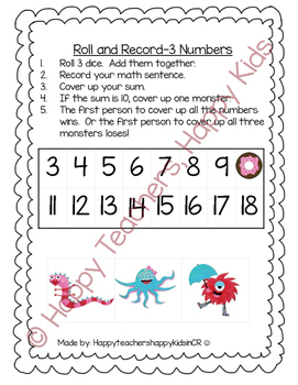 Monster Math-Operations and Algebraic Thinking Unit
