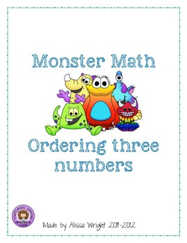 Monster Math ~ Ordering Three Numbers