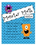 Monster Math Pack: Addition, Subtraction, and Telling Time