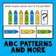 Crayon Math Pattern Cards AB ABB AAB AABB ABC Patterns