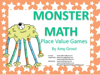 Monster Math: Place Value Games