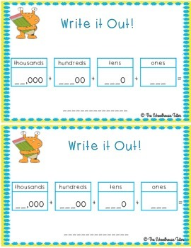 Monster Math Place Value Practice Packet