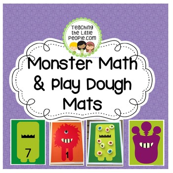 Monster Math & Play Dough Mats