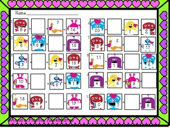 Monster Math Printables