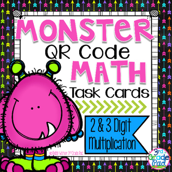 QR Code Task Cards: 2 & 3-digit Multiplication