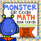 QR Code Task Cards: Rounding, Addition, & Subtraction w/ Regrouping