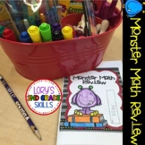 End of the Year Monster Math Review Booklet