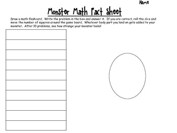 Monster Math Review Game
