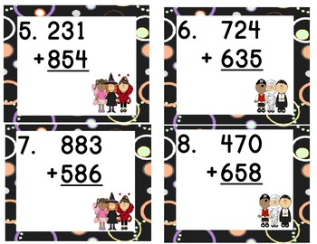 Monster Math Scoot: 3 Digit Addtion with Regrouping