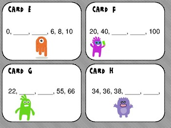 Monster Math Skip Counting/ Number Patterns