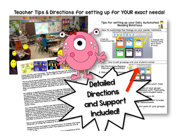 Monster Math Stations Automated Rotation Powerpoint *NOW with 5  Stations
