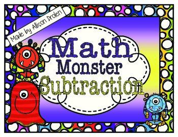 Math Monster Subtraction