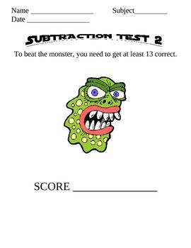Monster Math Subtraction 2-3