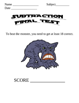 Monster Math Subtraction 4 & Final Subtraction