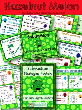 Monster Math Subtraction Posters and Anchor Charts for Number Talks