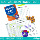 Fact Fluency Subtraction Timed Tests