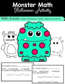 Halloween Math Activity-Monster Math