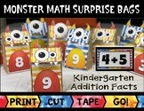 Monster Math Surprise Bags: Kindergarten