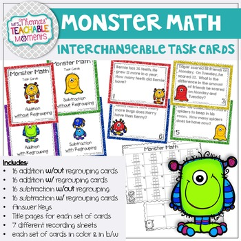 Regrouping Task Cards