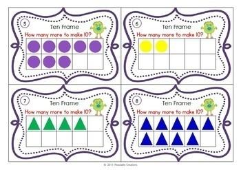 Monster Math Task Cards - Kindergarten