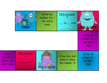 Monster Math Tens and Ones