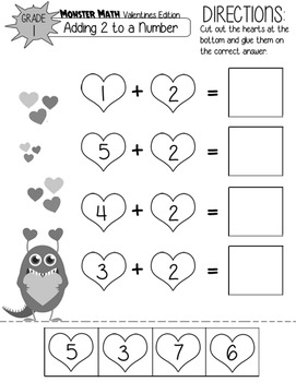 Monster Math Valentines Edition (Grade 1)