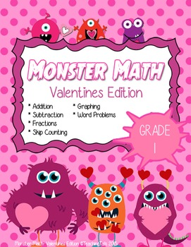 Monster Math Valentines Edition (Grade 1)