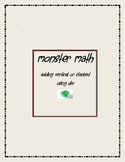 Monster Math Vertical Addition