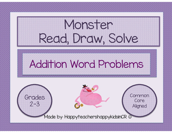 Monster Math Word Problems