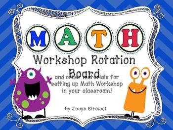 Monster Math Workshop Rotation Board