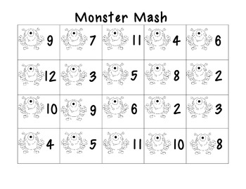 Monster Math and Color Matching