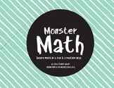 Monster Math and Coloring Sheet