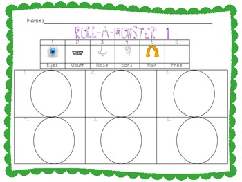 Monster Math and Writing Packet: Addition, Number Sense and Creative Writing