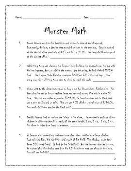 Monster Math for Middle School