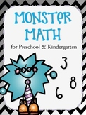 Monster Math for Preschoolers & Kindergarteners