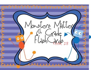 Monster Matter Unit Flash Cards