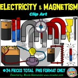 Electricity and Magnetism Clip Art for Personal & Commercial Use