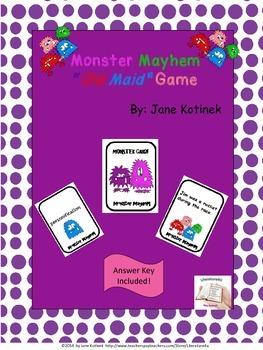 Monster Mayhem Old Maid Game  Figurative Language Game