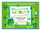 Monster McGee's St. Paddy's Day Math & Literacy Bundle for Kindergarten