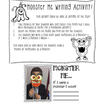 Monster Me Creative Writing