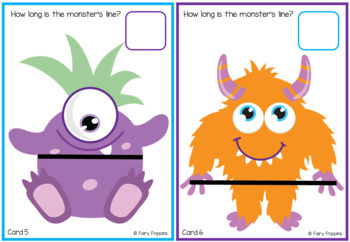 Monster Measurement Cards (Non Standard Units)